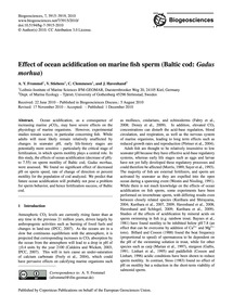 Effect of Ocean Acidification on Marine ... by Frommel, A. Y.