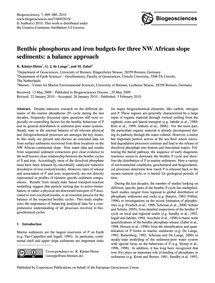 Benthic Phosphorus and Iron Budgets for ... by Küster-heins, K.