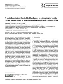 A Spatial Resolution Threshold of Land C... by Zhao, S. Q.