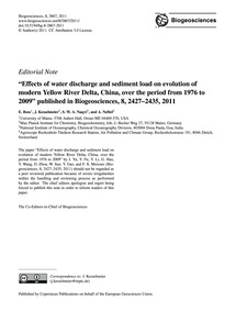 Editorial Note Effects of Water Discharg... by Boss, E.