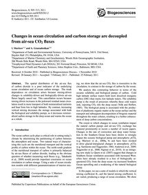 Changes in Ocean Circulation and Carbon ... by Marinov, I.