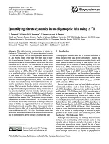 Quantifying Nitrate Dynamics in an Oligo... by Tsunogai, U.