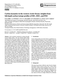 Carbon Dynamics in the Western Arctic Oc... by Griffith, D. R.