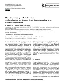 The Nitrogen Isotope Effect of Benthic R... by Alkhatib, M.