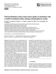 Nutrient Limitation Reduces Land Carbon ... by Goll, D. S.