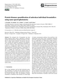 Protein Biomass Quantification of Unbrok... by Movellan, A.