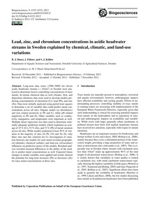 Lead, Zinc, and Chromium Concentrations ... by Huser, B. J.