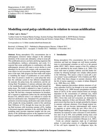 Modelling Coral Polyp Calcification in R... by Hohn, S.