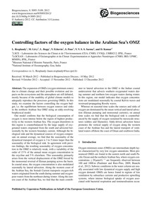 Controlling Factors of the Oxygen Balanc... by Resplandy, L.