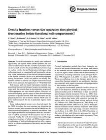 Density Fractions Versus Size Separates:... by Moni, C.