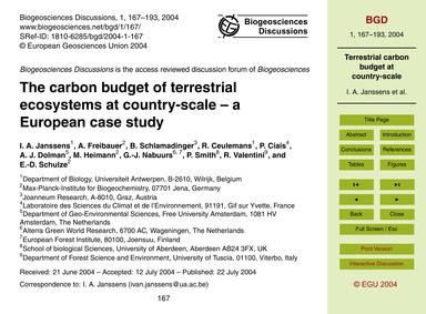 The Carbon Budget of Terrestrial Ecosyst... by Janssens, I. A.