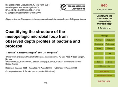 Quantifying the Structure of the Mesopel... by Tanaka, T.