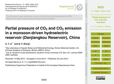 Partial Pressure of Co2 and Co2 Emission... by Li, S. Y.