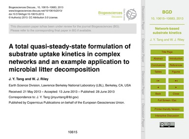 A Total Quasi-steady-state Formulation o... by Tang, J. Y.