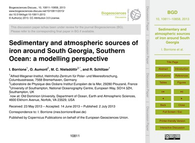 Sedimentary and Atmospheric Sources of I... by Borrione, I.