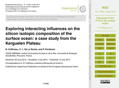 Exploring Interacting Influences on the ... by Coffineau, N.