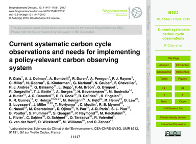 Current Systematic Carbon Cycle Observat... by Ciais, P.