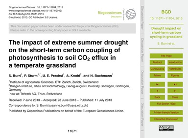 The Impact of Extreme Summer Drought on ... by Burri, S.