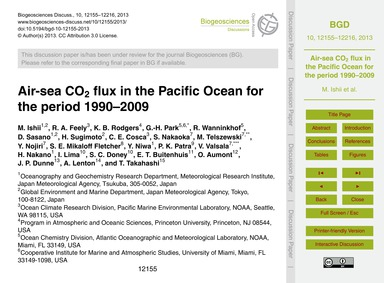 Air-sea Co2 Flux in the Pacific Ocean fo... by Ishii, M.