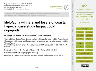 Meiofauna Winners and Losers of Coastal ... by Grego, M.