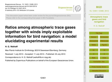Ratios Among Atmospheric Trace Gases Tog... by Wallraff, H. G.