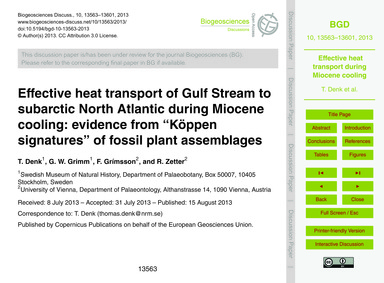 Effective Heat Transport of Gulf Stream ... by Denk, T.