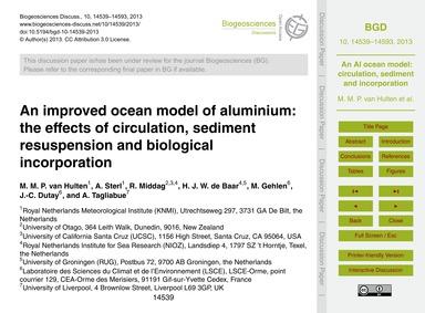 An Improved Ocean Model of Aluminium: th... by Van Hulten, M. M. P.