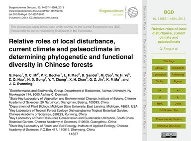 Relative Roles of Local Disturbance, Cur... by Feng, G.
