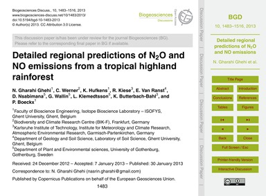 Detailed Regional Predictions of N2O and... by Gharahi Ghehi, N.