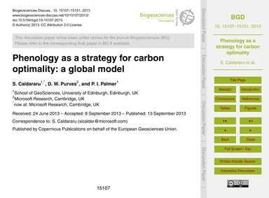 Phenology as a Strategy for Carbon Optim... by Caldararu, S.