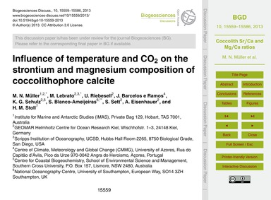 Influence of Temperature and Co2 on the ... by Müller, M. N.