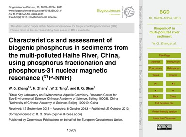 Characteristics and Assessment of Biogen... by Zhang, W. Q.