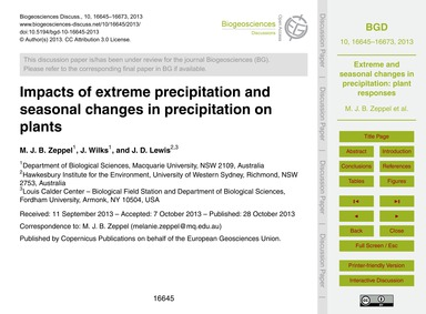 Impacts of Extreme Precipitation and Sea... by Zeppel, M. J. B.