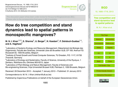 How Do Tree Competition and Stand Dynami... by Khan, M. N. I.