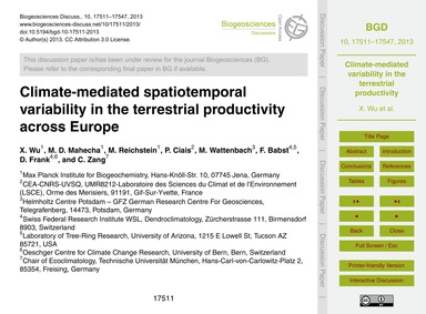 Climate-mediated Spatiotemporal Variabil... by Wu, X.