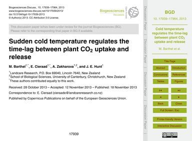 Sudden Cold Temperature Regulates the Ti... by Barthel, M.