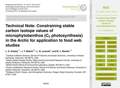 Technical Note: Constraining Stable Carb... by Oxto, L. E.