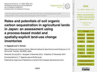 Rates and Potentials of Soil Organic Car... by Yagasaki, Y.