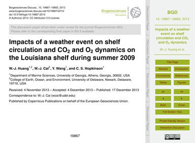 Impacts of a Weather Event on Shelf Circ... by Huang, W.-j.