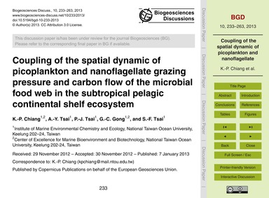 Coupling of the Spatial Dynamic of Picop... by Chiang, K.-p.