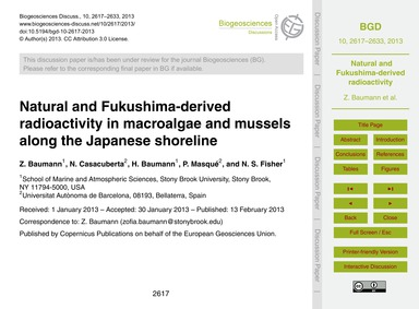 Natural and Fukushima-derived Radioactiv... by Baumann, Z.