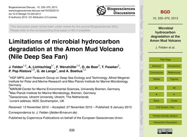 Limitations of Microbial Hydrocarbon Deg... by Felden, J.
