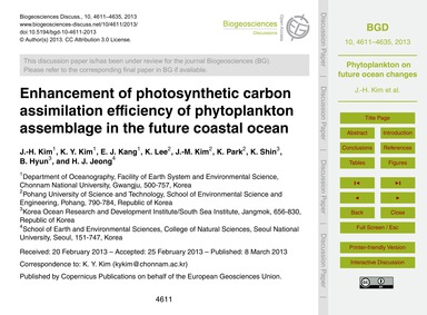 Enhancement of Photosynthetic Carbon Ass... by Kim, J.-h.