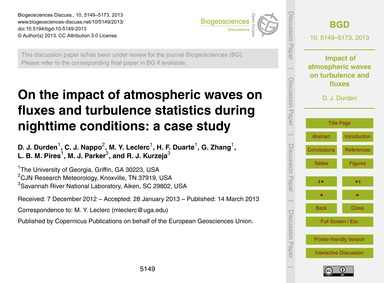 On the Impact of Atmospheric Waves on Fl... by Durden, D. J.