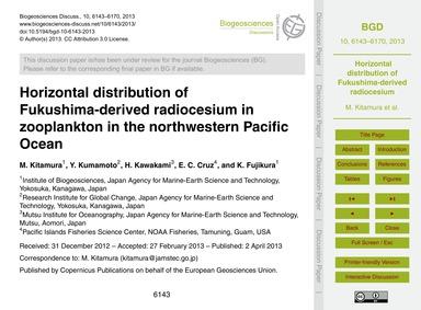 Horizontal Distribution of Fukushima-der... by Kitamura, M.