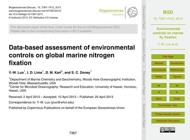 Data-based Assessment of Environmental C... by Luo, Y.-w.