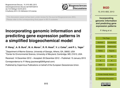 Incorporating Genomic Information and Pr... by Wang, P.