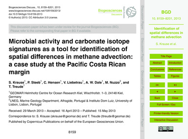 Microbial Activity and Carbonate Isotope... by Krause, S.
