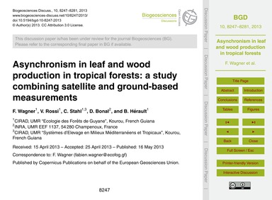 Asynchronism in Leaf and Wood Production... by Wagner, F.