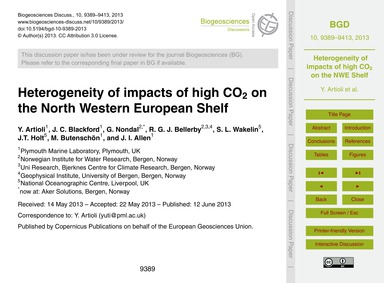 Heterogeneity of Impacts of High Co2 on ... by Artioli, Y.